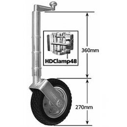 JW9HD - Clamp On Heavy Duty Jockey Wheel