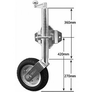 HD 10 Swivel Jockey Wheel (JW10HD)